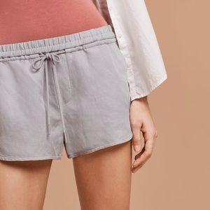 Community linen shorts, ashen
